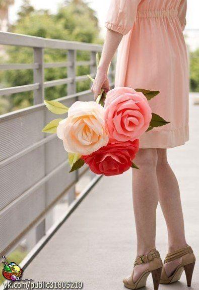 rosas gigantes crepe 3