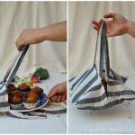 Como hacer una bolsa para reposteria con un paño de cocina
