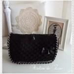 Bolso trapillo elegante en negro