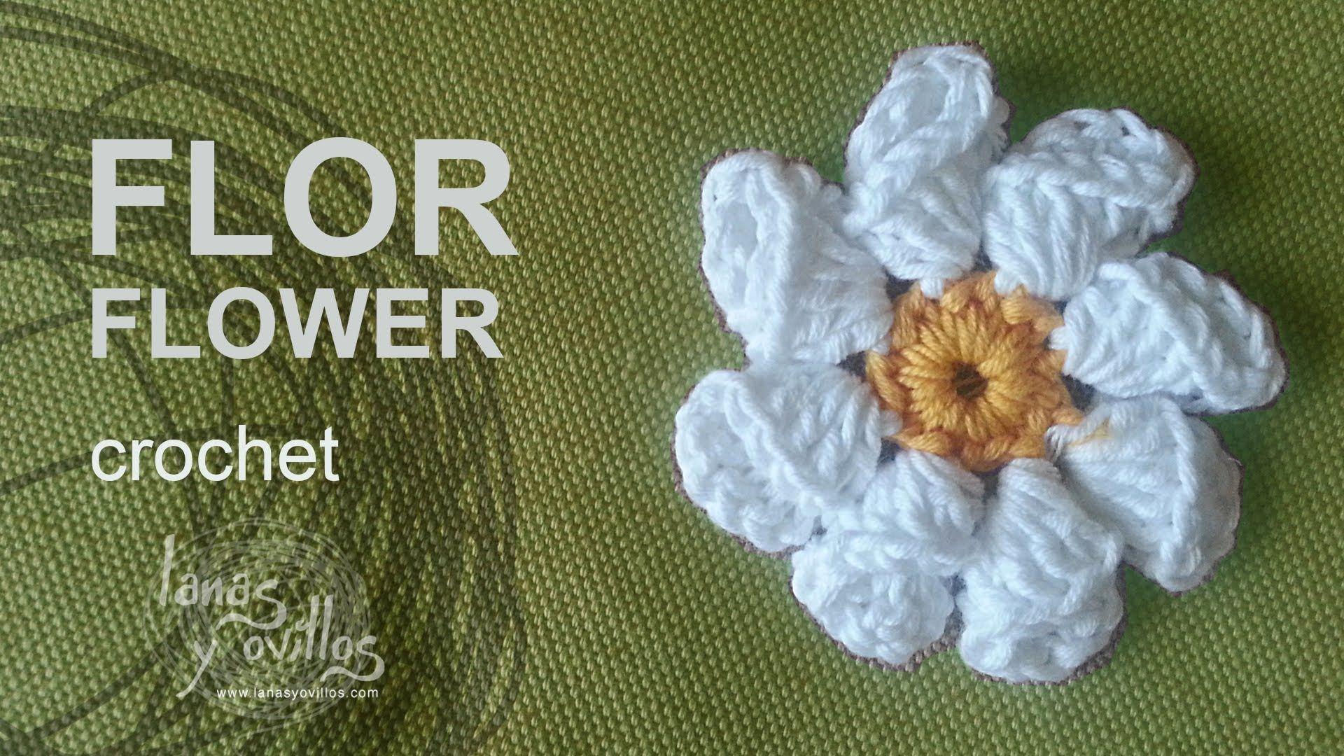 flor-crochet - Patrones gratis