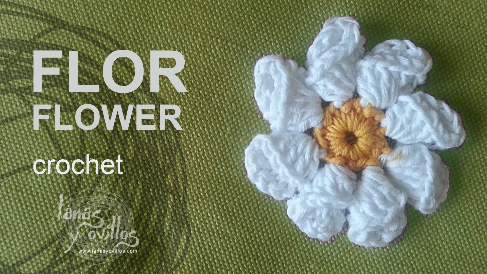 Tutorial Flor Crochet o Ganchillo - Patrones gratis