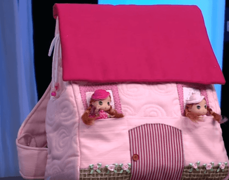 mochila infantil casita