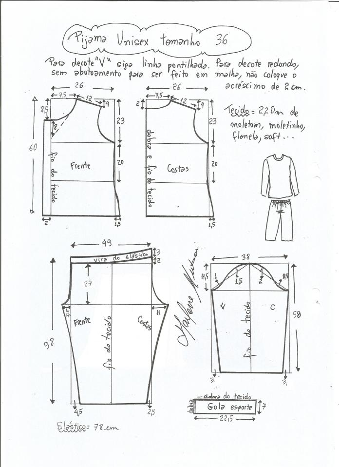 Patrón de Pijama Unisex - Patrones gratis