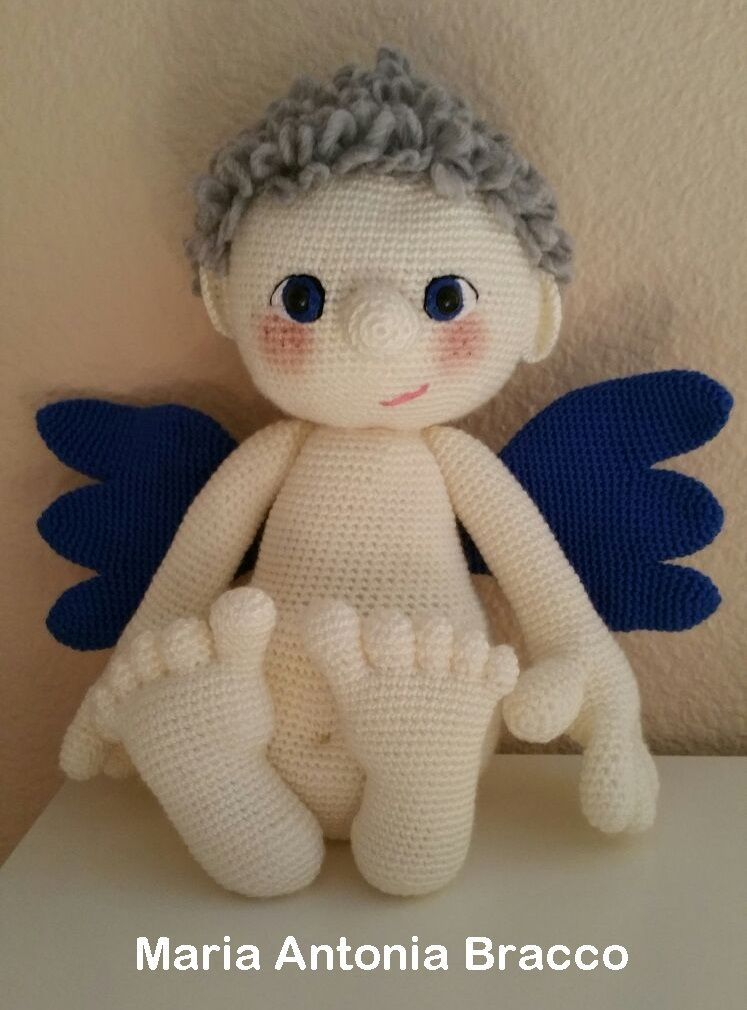 Patrón de Angel amigurumi - Patrones gratis