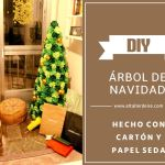 Cómo hacer un árbol de Navidad de cartón y papel seda