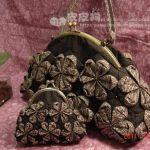 Bolso y monedero realizado con el arte del origami