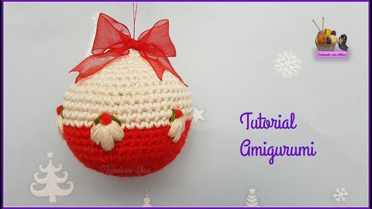 Como hacer Bolas de Navidad en amigurumi - Patrones gratis