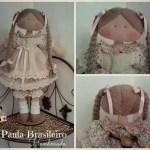 Muñeca de tela con trenzas