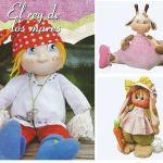 Varios Muñecos soft con patrones
