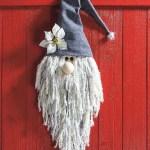 DIY cara de Santa Claus para colgar