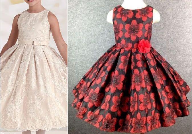 2ed9d05821 Patrón vestido de fiesta para niña con la falda plisada - Patrones ...