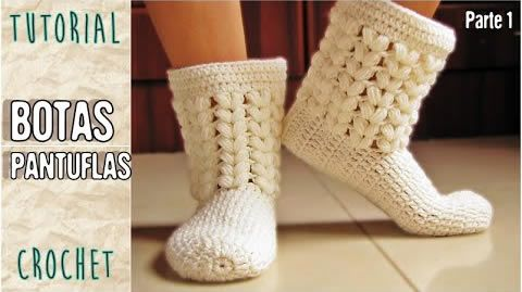 botas-pantuflas-crochet