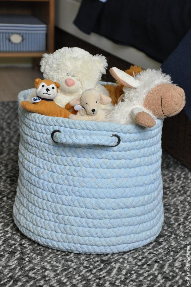 DIY cesta para juguetes - Patrones gratis