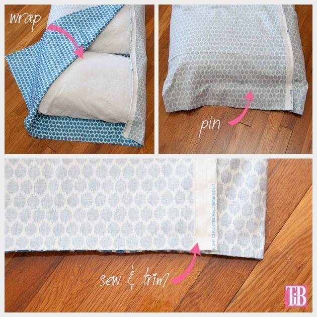 colchoneta con almohadas 5 - Patrones gratis
