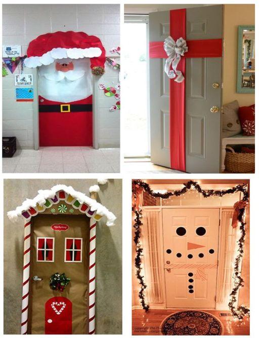 Ideas para decorar puertas en navidad patrones gratis for Decoracion de puertas navidad 2016