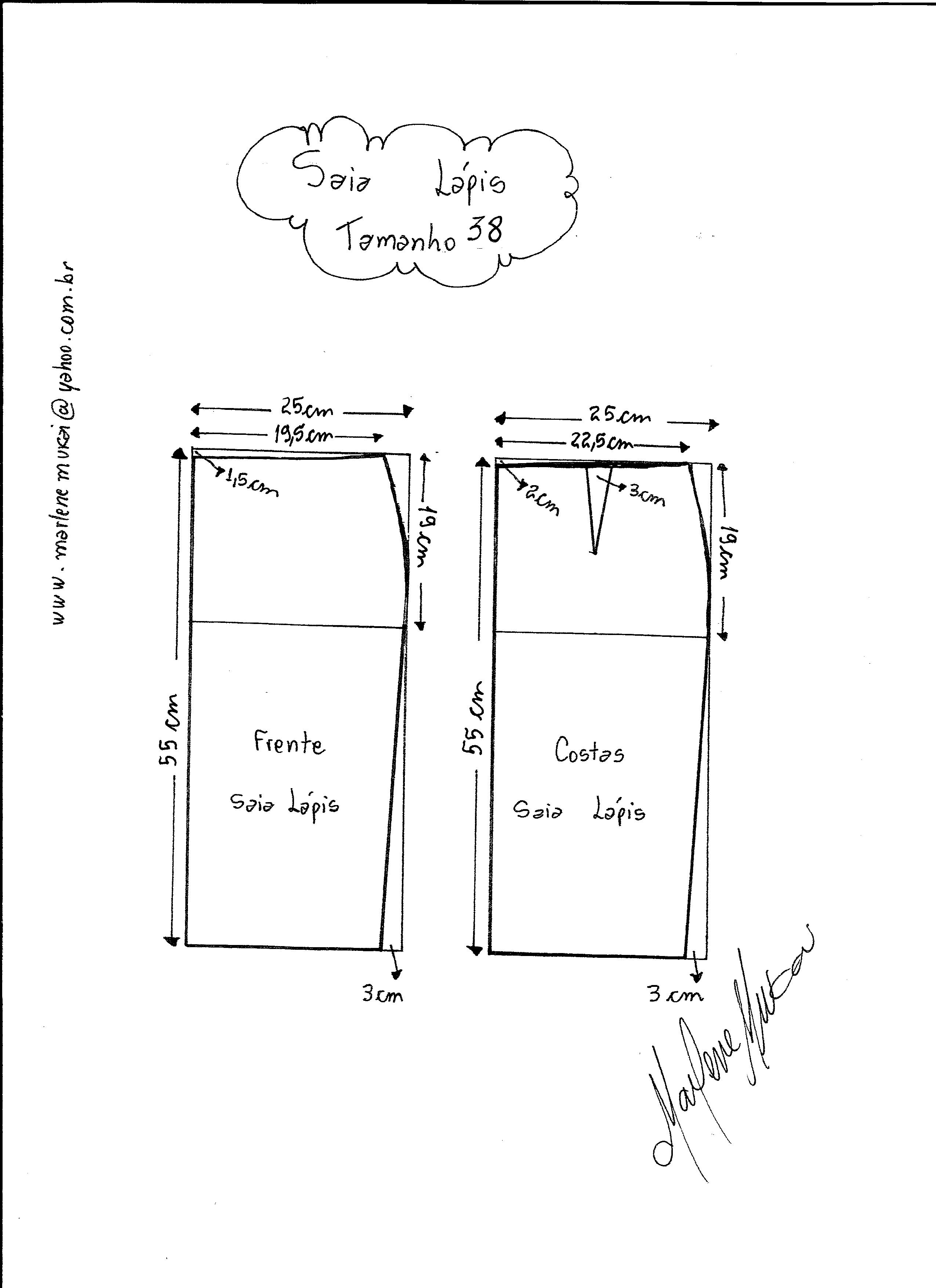 4fd84a4cf6 Tallas para falda clásica  talla-36 talla-38 ...