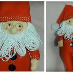 DIY y patrón de Papá Noel en pijama