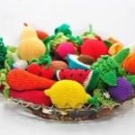 Frutas y vegetales amigurumi