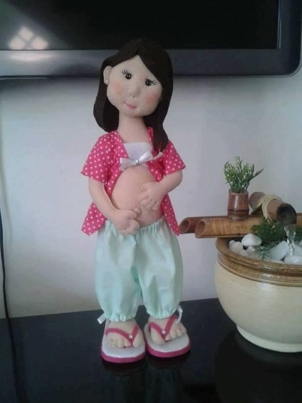 Moldes muñeca embarazada en fieltro