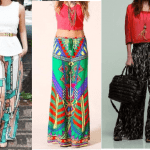 Patrón pantalón ancho con cintura elástica