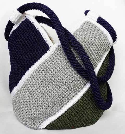 Bolso a crochet molino de viento - Patrones gratis