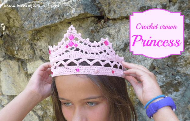 Como hacer una Corona de princesa a crochet - Patrones gratis