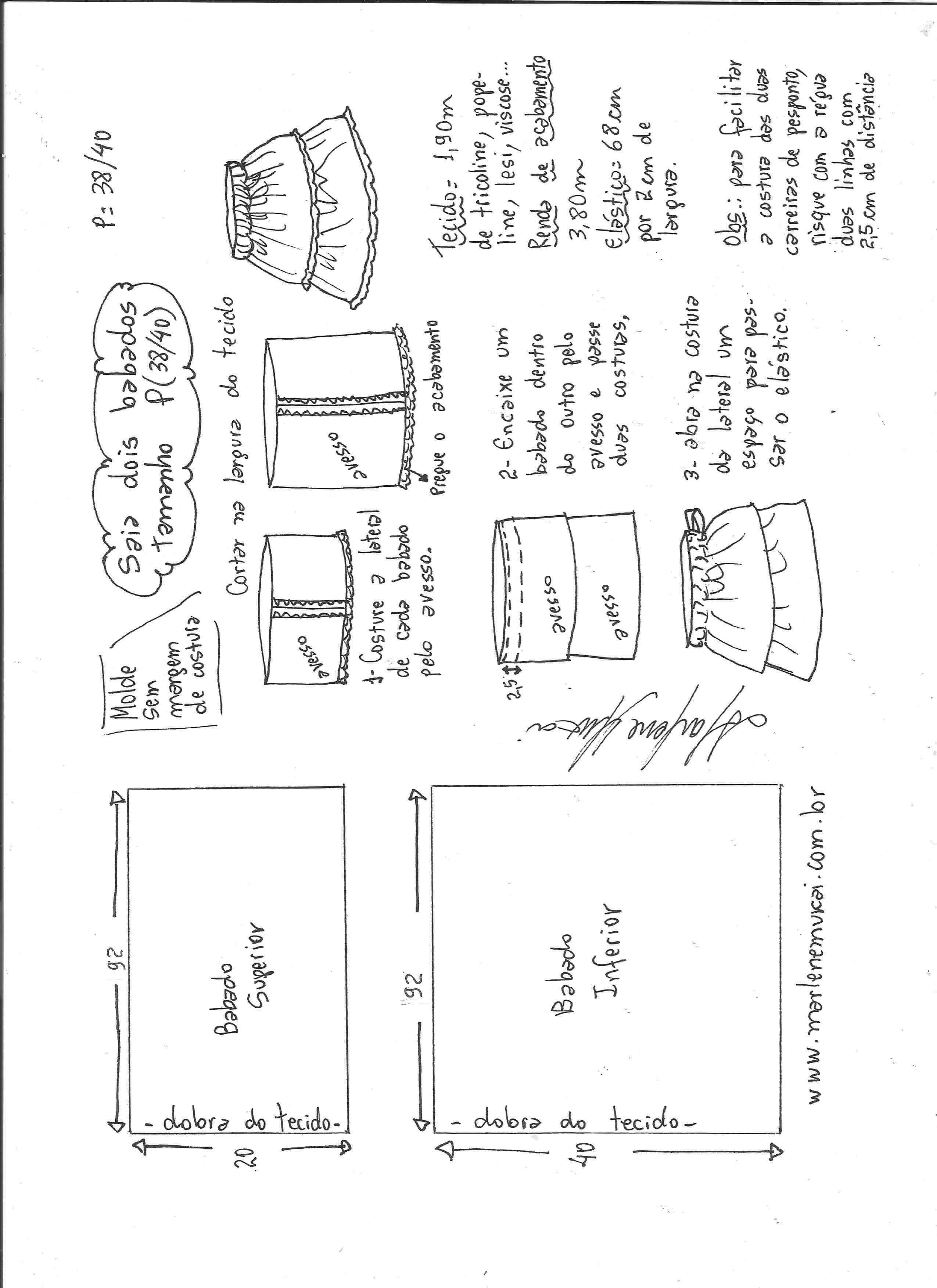 Patrón de Falda con 2 volantes - Patrones gratis