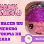 Como hacer un monedero a crochet con cara de muñeca