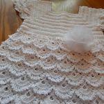 Vestido Blanco Crochet para niña
