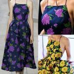 Patrón de vestido escote recto