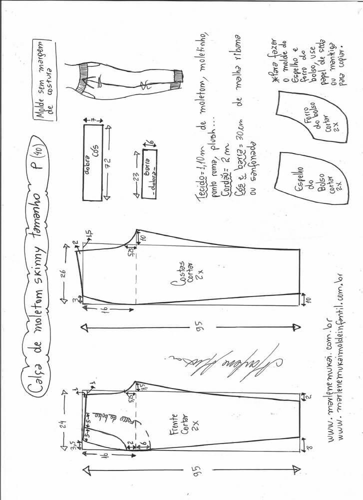 Patrón pantalón de chandal pitillo - Patrones gratis