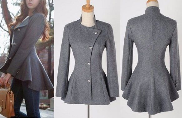 Patrón chaqueta moulet entallada para mujer - Patrones gratis 088684be88e1