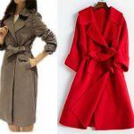 Patrón abrigo largo sin botones