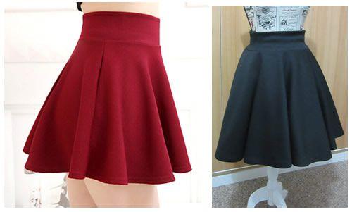 1a0da1822 Como hacer una mini falda plato con tela elástica - Patrones gratis