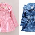 Vestido abrigo de manga larga para niñas