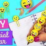 DIY de material escolar de emojis