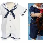 Patrón de traje marinero de bebé