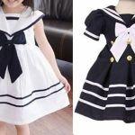 Patrón vestido marinero infantil