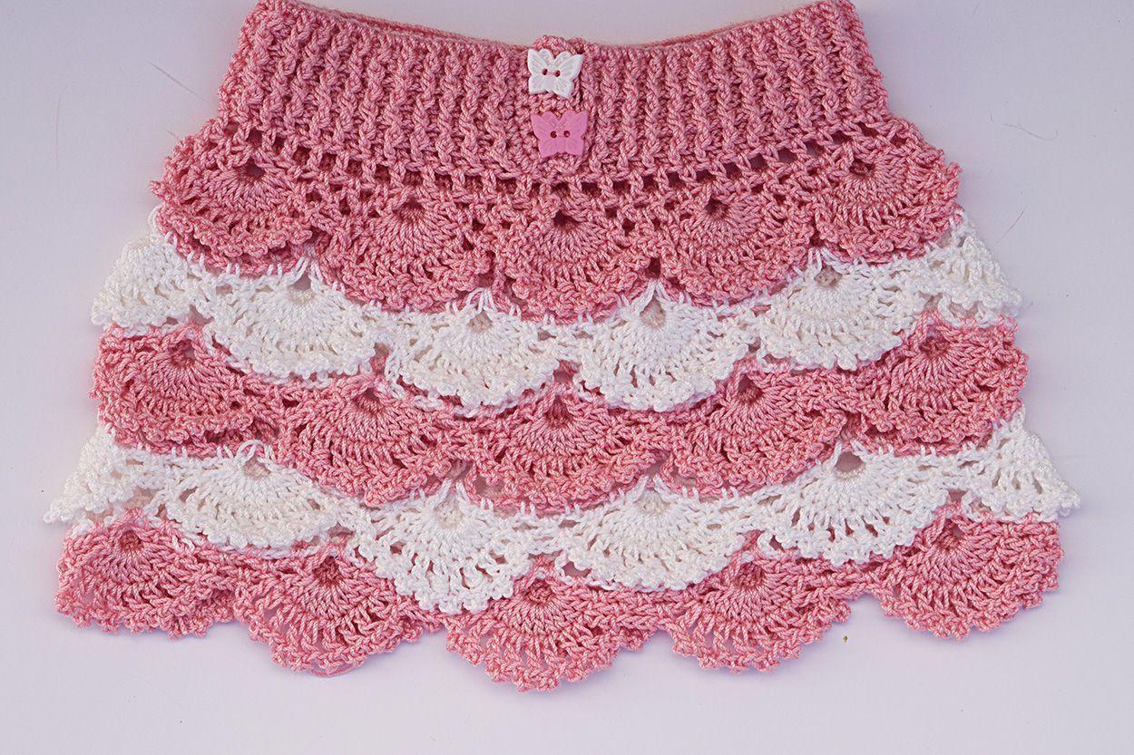 c41eae586 DIY Falda de niña crochet - Patrones gratis