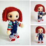 Chucky el muñeco diabólico patrón amigurumi