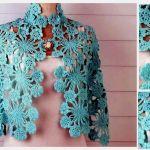 Chal crochet azul cielo Gráficos