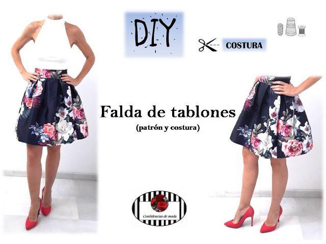 7e5a9510e Falda de tablones DIY - Patrones gratis