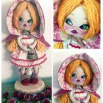 Muñeca de tela Caperucita Roja – DIY y patrones