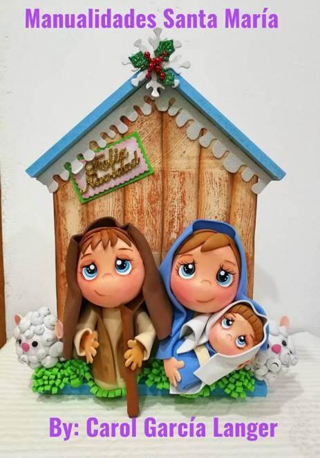 Nacimiento para Navidad en Goma eva. Moldes para hacer ... 7593ea12759