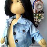 DIY Cazadora vaquera para muñeca con patrón