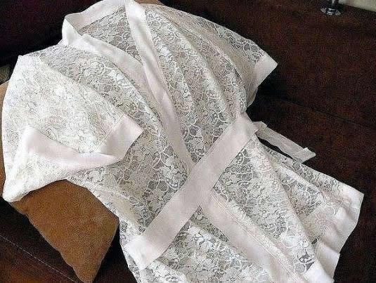 Patrón de Bata kimono