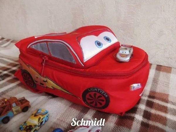 DIY mochila mochila Cars Rayo McQueen