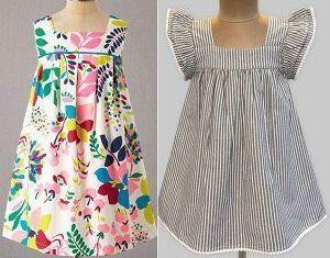 bee168f6a Vestido de niña sencillo · Patrones de costura