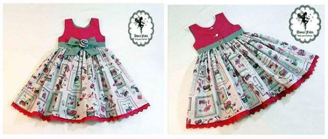58bf5c9de Patrón de vestido infantil para bebe niña de 6 meses - Patrones gratis
