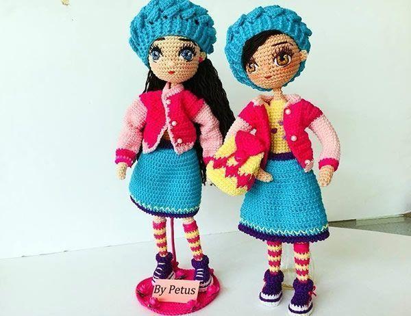 Como tejer una muñeca amigurumi llamada livia paso a paso